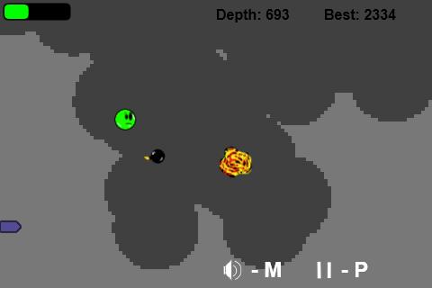 Screenshot von den Spiel Bombsville von der Seite http://splorg.org.uk in der aktuellen Version 0.29