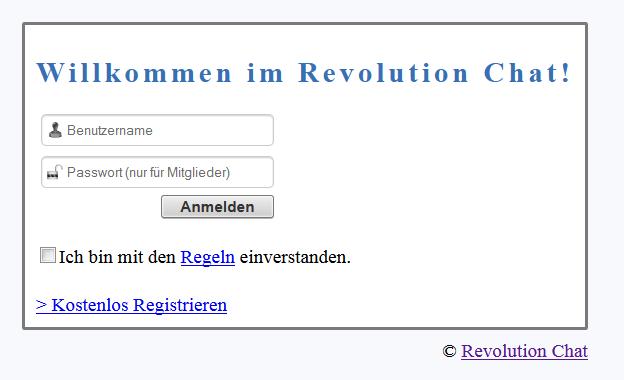 Revolution Chat v0.2 Login