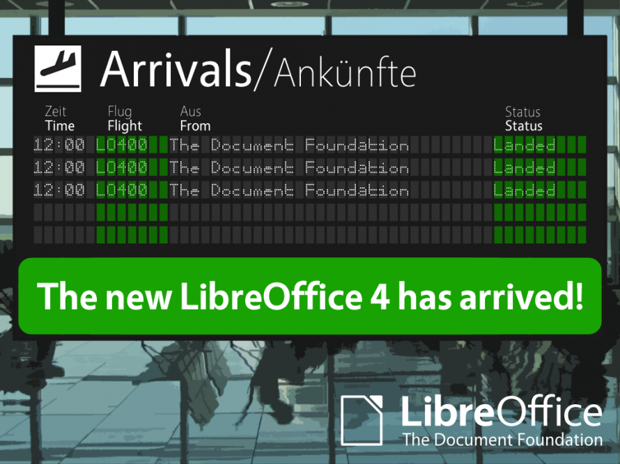 LibreOffice 4.0 has arrived